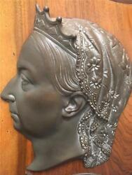 Rare Queen Victoria Jubilee1837-1897 Special Cast Plaque On Oak By Kenrick And Son