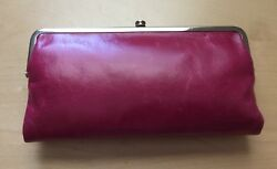 NWT HOBO INTERNATIONAL Fuchsia Pink Leather Lauren Clutch Wallet SOLD OUT
