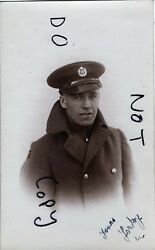 Ww1 Airman Air Mechanic Raf Royal Air Force In Greatcoat With Collar Up