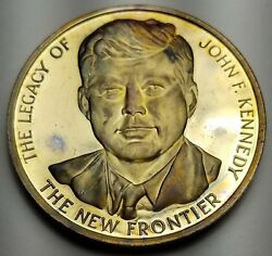 Jfk Commemorative 24k Sterling Silver Medal By Lincoln Mint The New Frontier
