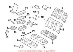 For Bmw Genuine Seat Cover Rear 52207317348