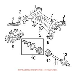For Bmw Genuine Drive Axle Assembly Rear 33107566189
