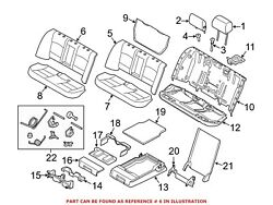 For Bmw Genuine Seat Back Cover Rear 52207254148