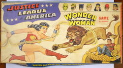 Justice League Of America - Wonder Woman Game Hasbro 1967 Complete And Rare