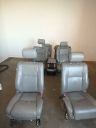2008-2018 Toyota Sequoia Front Rear 2nd 3rd Row Seat Grey Leather Heat Platinum