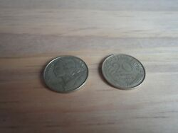 1963 French 20 Centimes Coin