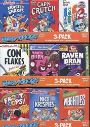 Wacky Packages Stickers Series Nine Cereal Collection Case 2012 Topps