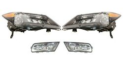 Left And Right Genuine Headlights Headlamps And Fog Lights Kit For Acura W/o Sport