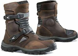 Forma Adventure Leather Motorcycle Bootslow Short Brown Ride Magazine Best Buy