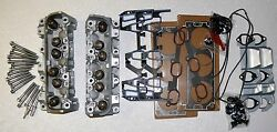 Pair Gm Chevy Lumina 3.1 3.4 170 487 Cylinder Heads Bolts And Gaskets Rebuilt