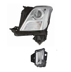 Driver Left Genuine Headlight No Hid Daytime Running Lamp For Xts No Leveling Gm