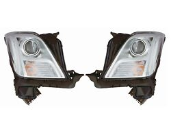 Left And Right Genuine Headlights Lamps No Hid Pair Set For Xts No Leveling Sys Gm