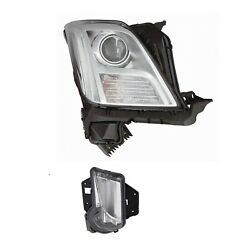 Passenger Right Genuine Headlight No Hid And Day Running Lamp For Xts Leveling Gm