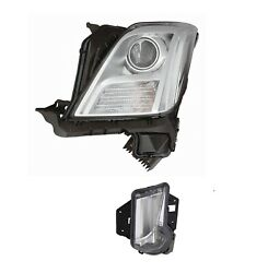 Driver Left Genuine Headlight No Hid And Day Running Lamp For Xts Leveling Sys Gm