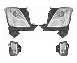 L And R Genuine Hid Headlights And Day Running Lamps Kit For Xts W/ Adaptive Lamp Gm