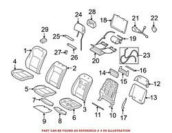 For Bmw Genuine Seat Cover Front Right 52107353062
