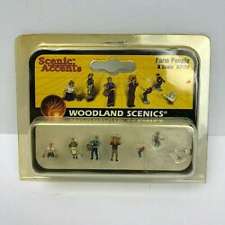 Vintage N Scale Scenic Accents Woodland Scenics Farm People - A2152 - Nib
