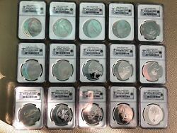 2007-2009 Canada Silver Olympics 15 Coins Full Set Ngc- Pr-70 Rare Low Pop 50
