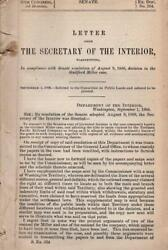 Letter From Secr. Of Interior - In Compliance With Senate Resolution Of 8/9/1888