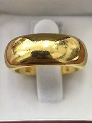 24k Pure 999.9 Solid Yellow Gold Handmade Band Ring Any Size 5 -13 15 Grams