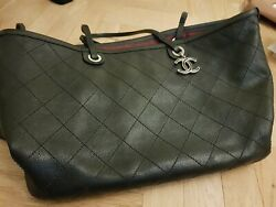 Chanel Caviar skin shopping bag large ladies black classic shopper