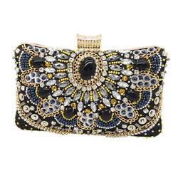 Vintage Women Beaded Evening Bags Wedding Cocktail Party Bridal Clutch Handbag $19.99