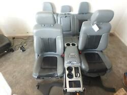 09-14 FORD F150 LIMITED FRONT REAR SEAT CONSOLE GREY BLACK LEATHER POWER HEAT