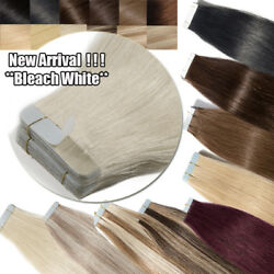 60pcs Russian Skin Remy Tape Glue In Real Human Hair Extensions Multi Color Usps