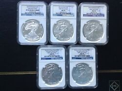 2014 -ngc 70 Blue Label First Releases Full Set -5 Coins Set