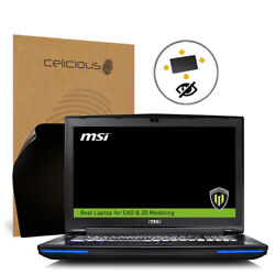 Celicious Privacy Plus MSI Workstation WT72 6QN [360°] Anti-Spy Screen Protector