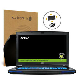 Celicious Privacy Plus MSI Workstation WT72 6QI [360°] Anti-Spy Screen Protector