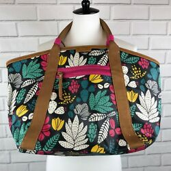 Fossil NEW WT  Eliza Beach Tote Dark Floral with wristlet large bag 138.00 cute
