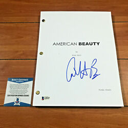 Annette Bening Signed American Bauty Full 106 Page Movie Script Beckett Bas Coa