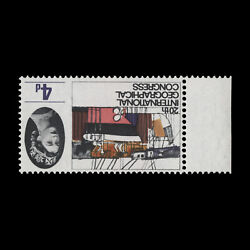 Great Britain 1964 Variety 4d Geographical Congress Ord Inverted Watermark