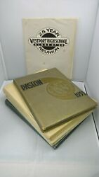 Vtg 1950s Kansas City Westport Yearbooks Lot Of 4 Books +25 Year Reunion Picture