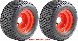 Two 25x12-12 25x12.00-12 Otr Grassmaster Lawn Mower Turf Tires 4 Ply Rated