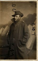 Ww1 Soldier Aif Australian Imperial Forces In Greatcoat And Slouch Hat Boscombe