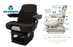 Grammer 12v Air Suspension Seat For New Holland Tractor, Combine