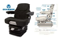 Grammer 12v Air Suspension Seat For John Deere Excavator Air Ride Seat Assembly
