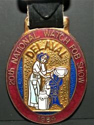 Delaval Cream Separator Pocket Watch Fob 1984 20th National Show Strongsville Oh