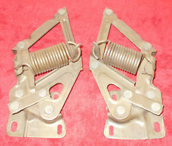 1964 1965 1966 Mustang Fastback Coupe Convertible Gt Shelby Orig L+r Hood Hinges