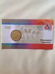 2000 - Australia - Olympic Sports Athletics - Stamp And Coin Cover Pnc