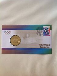 2000 - Australia - Olympic Sports Swimming - Stamp And Coin Cover Pnc
