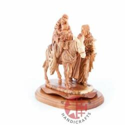 Flight Into Egypt's Hand Carved Wooden Statue