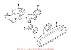 For Bmw Genuine Interior Rear View Mirror Front 51169192335