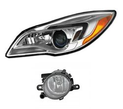 New Driver Left Genuine Hid Headlight Headlamp And Fog Light For Buick Regal 14-17