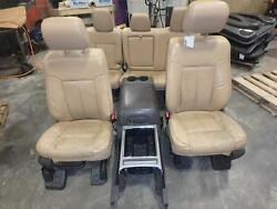 11-16 Ford F250sd Front Seat Rear Seat Tan Leather Power Wconsole Lariat