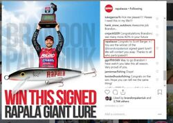 Authentic Rapala Lure Signed By Brandon Palaniuk 2017 Angler Of The Year