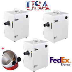 3units Dental Lab Digital Single-row Dust Collector Vacuum Cleaner Cleaning Usa