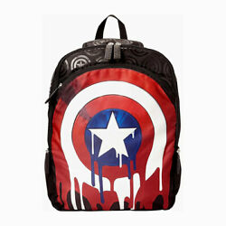 Marvel Captain America 17quot; Backpack School Kids Youth Laptop Tablet Book Bag NEW $18.35